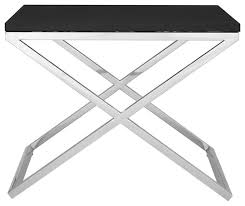 tribute faux leather end table modern plant stands tables by premier housewares