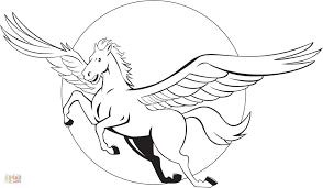 Small Picture Pegasus Coloring Page Coloring Pages Kids