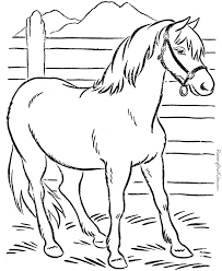 Animal Coloring Page Of Horse To Print Places To Visit Coloring