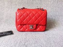 AUTHENTIC CHANEL RED QUILTED CAVIAR SQUARE MINI CLASSIC FLAP BAG ... & AUTHENTIC CHANEL RED QUILTED CAVIAR SQUARE MINI CLASSIC FLAP BAG SHW Adamdwight.com