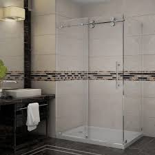 frameless shower enclosures. Perfect Shower Aston Langham 48 In X 35 7712 In Throughout Frameless Shower Enclosures H