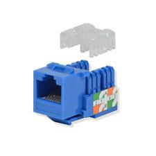 networking jacks 10 pack lot keystone jack cat5e blue network ethernet 110 punchdown 8p8c rj45