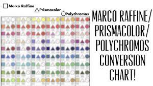 Prismacolor Blank Color Chart Marco Raffine Prismacolor Polychromos Conversion Chart