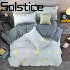 solstice home textile stylish soft comfortable classic geometric striped landscape printed bedding sheets quilt cover pillowcase blue duvet cover queen