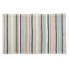 multi chenille stripe bath mat
