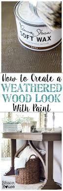Wood Looking Paint How To Create A Weathered Wood Look With Paint Blesser House