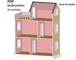 american girl doll house plans. Dollhouse With A Balcony For American Girl Or 18 Inch Dolls PDF Plans Step-by Doll House F