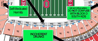 Ohio State Seating Chart A Judgmental Seating Chart Of The Shoe