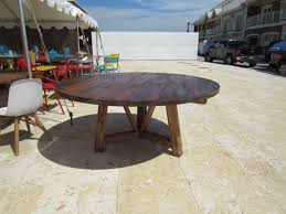 reclaimed wood round kitchen table pertaining to a custom made salvaged beam dining remodel 14
