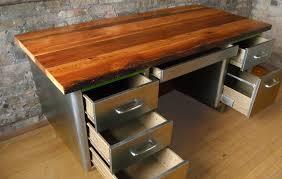 reclaimed wood desk top diy workspaces in design 6