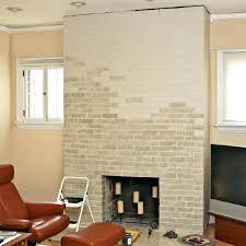 redone fireplace modern redo brick fireplace with stone