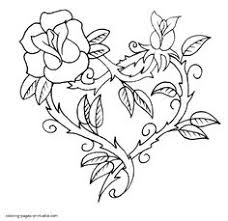 Small Picture Hearts Roses Beautiful Drawing of Hearts and Roses Coloring