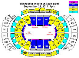 St Louis Blues Seating Chart Detailed Minnesota Wild Vs St Louis Blues Sprint Center