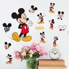 Mickey Mouse Minnie Vinyl Nástěnné Samolepky Nálepky Dětské školky Pokoj Domácí Dekor At Vova