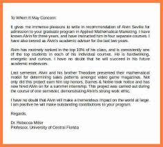 letter of re mendation graduate school examples sample re mendation letter for graduate schoole
