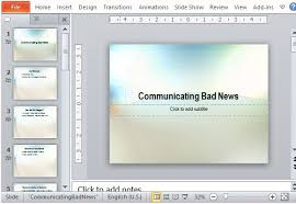 bad powerpoint presentation presentation of bad news powerpoint template
