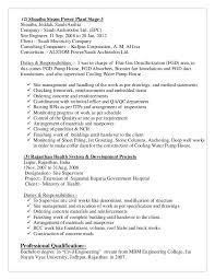 Power Plant Mechanical Engineer Resumes Junior Civil Engineer Resume Yupar Magdalene Project Org