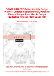 Online Budgeting Download Pdf Online Monthly Budget Planner Undated Budget