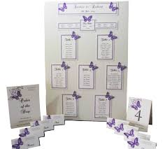 Wedding Seating Plan Table Chart Personalised A3 A2 Butterflies Various Colours Handmade