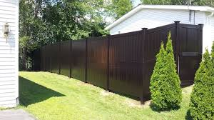 brown vinyl horse fence. Outdoor: Lowes Vinyl Fence Lovely Brown Modern Style Pvc Eco No Maintenance Garden Horse