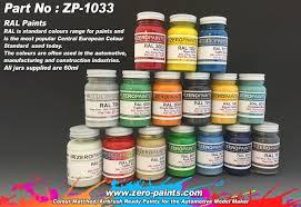 Ral Paints (European Standard Colour Range) 60Ml | Zp-1033 | Zero Paints