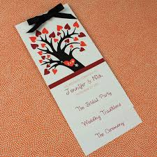 Fall Wedding Program Template With Heart Tree Download Print
