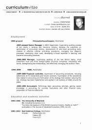 Free American Resume Samples Lovely Curriculum Vitae Format Resume