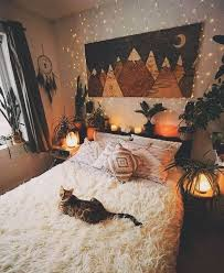 bedroom cat and autumn image