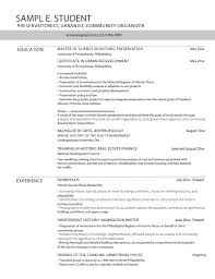 Career Services Sample Resumes For PennDesign Students Magnificent Resume Features