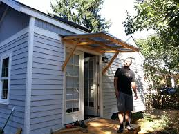 Teasing Trendy Swing Wood Awning For Small Tiny House Layout Designs How