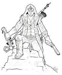 Assassins Creed 3 Coloring Pages Baby Assassin