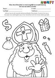 100 Sinterklaas Tekening Ingekleurd Kleurplaat 2019