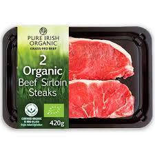 Sirloin Steak Price Pure Irish Organic 2 Sirloin Steaks Ocado