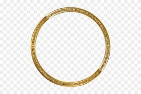 Free Png Download Round Border Frame Gold Clipart Png