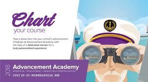 Advancement Academy 2018 Chart Your Course