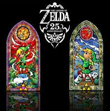 legend of zelda wind waker 42 stained glass wall decal silver or hero s bow