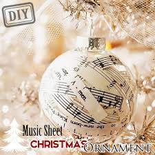 116 Best Sheet Music Paper Crafts Images On Pinterest  Music DIY Christmas Music Buttons For Crafts