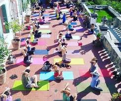 villa terrace yoga on the terrace