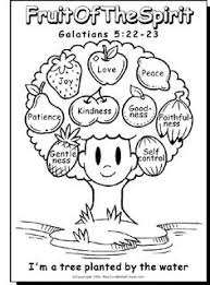 Small Picture Cute Fruits of the Spirit Bible Coloring Pages for Kids Great for