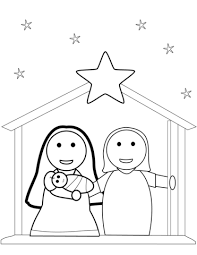 Christmas Nativity Scene Coloring Page Free Printable Coloring Pages