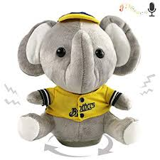 Houwsbaby Recordable <b>Talking</b> Elephant Speak <b>Stuffed Animal</b> ...