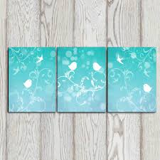 valuable aqua wall art room decorating ideas set of 3 bird prints turquoise decor bedroom zoom