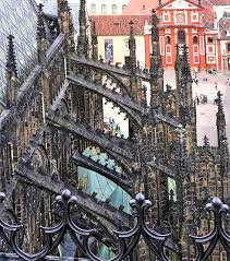 flying buttress  a flying buttress is a specific form of