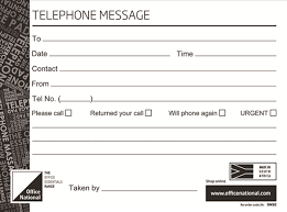 Telephone Message Office National Telephone Message Pads