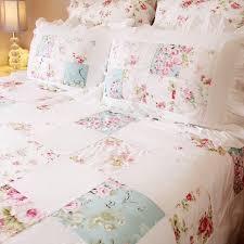 rose fl patchwork shabby chic quilt duvet cover