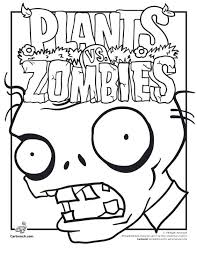 Zombies Coloring Pages Free Printable Plants Vs Zombies Coloring