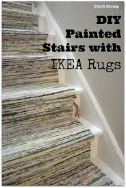 BEFORE  AFTER DIY Painted Stairs Makeover Stairs Stair - Painted basement stairs