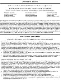 automotive and manufacturing engineering management resume example