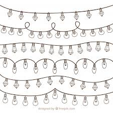 Collection Of Simple Christmas Lights Vector Free Download