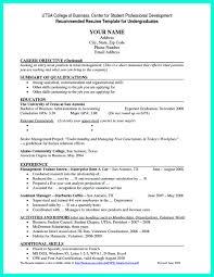 Resume Templates College Graduate Oneswordnet